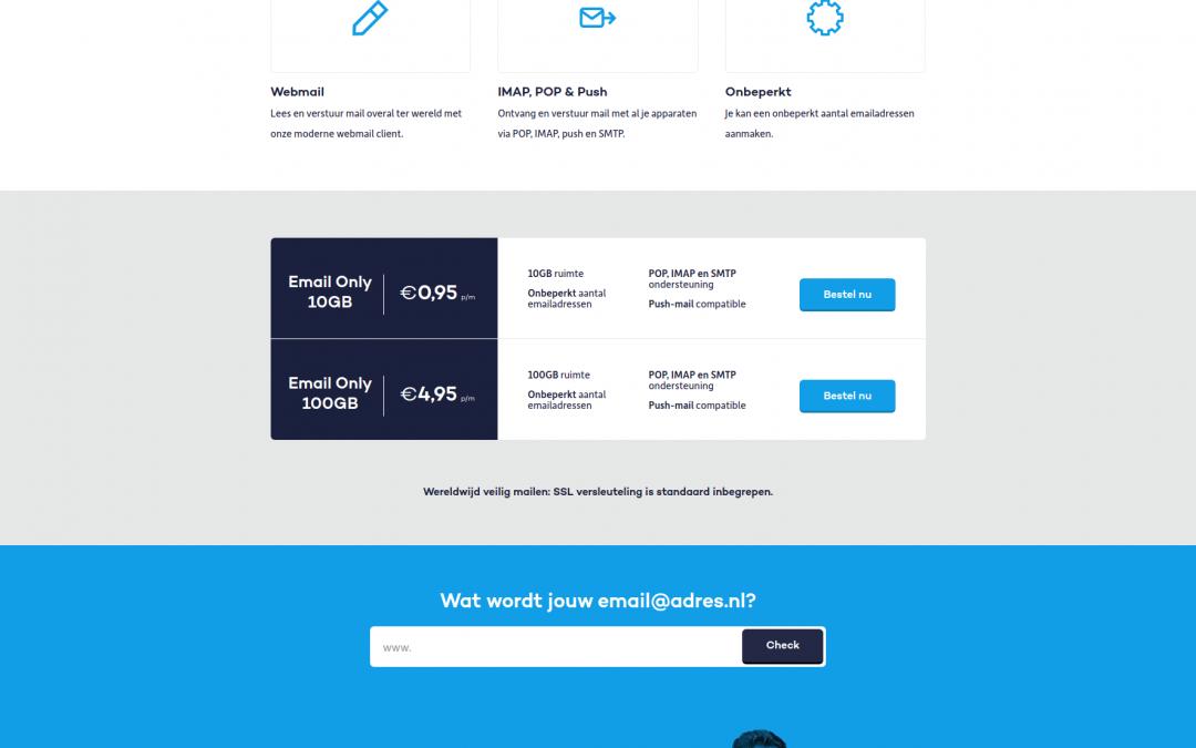Email only hosting van Mihosnet